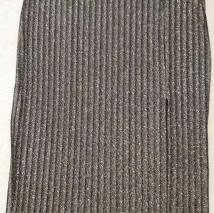 H&M Skirts - Black and silver xl pencil skirt
